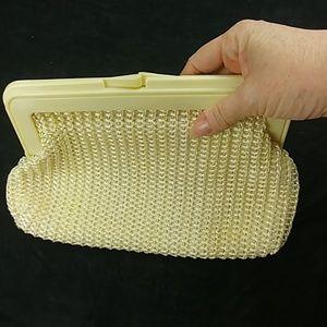 💚5 / $25/ 60s vintage crochet woven clutch purse